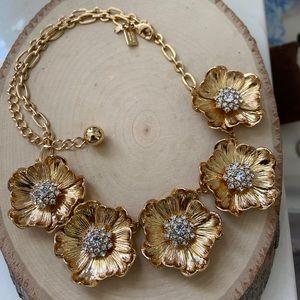 ♠️AlmostNEW KateSpade Crystals Gold Daisy Necklace
